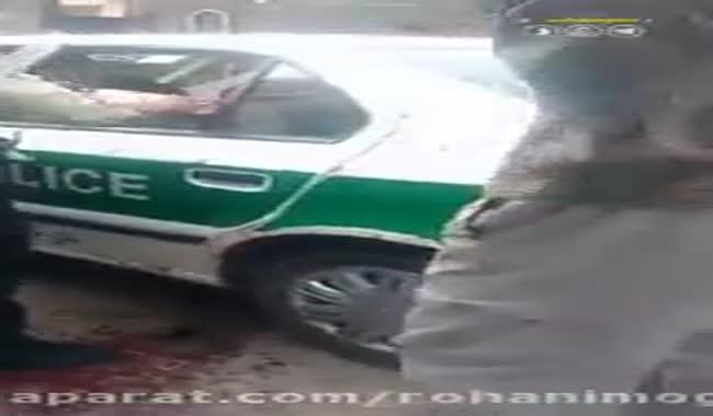درگیری با مامور نیروی انتظامی با قمه.