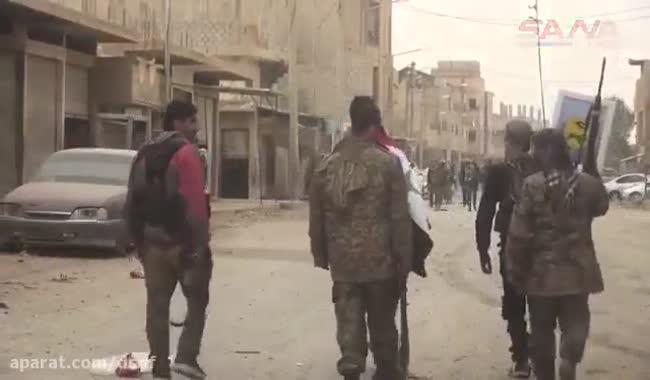 اولین تصاویر از داخل خیابان های بوکمال بعد از شکست داعش