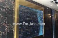 اجرای آبنمای حبابی ریتمیک و موزیکال ،دیوار شیشه ای ریتمیک و موزیکال در لابی مجتمع ساختمانی