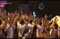 تجمع دیشب هواداران ایرانی در کنار هتل تیمملی پرتغال
