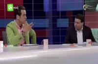 لحظه سانسور شدن علی کریمی در برنامه نود