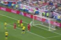 صحنه گل دوم انگلیس به سوئد  در جام جهانی 2018