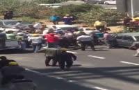 نزاع و درگيری شدید ماموران شهرداری منطقه ٢ با پرسنل اجرایی