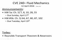 061019 - مکانیک سیالات سری اول