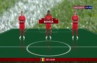 شماتیک ترکیب بازیکنان دو تیم بلژیک - تونس