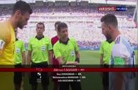 مراسم آغاز بازی آرژانتین - فرانسه