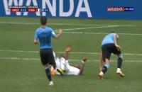 لحظه گریه بازیکن اروگوئه پیش از سوت پایان بازی