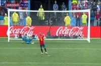 پنالتیهای بازی اسپانیا (3) - روسیه (4)