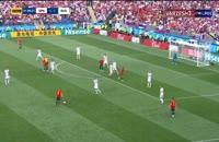 برخورد عجیب آسپاس و ایسکو در جریان بازی اسپانیا - روسیه