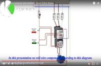 سیم کشی یک کلید حفاظت موتوری(MPCB) و کنتاکتور