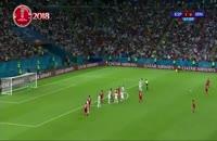 لحظه گل ایران به اسپانیا