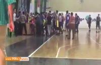 درگیری شدید در فینال مسابقات بسکتبال دانش آموزی