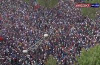 فیلم شادی مردم فرانسه در خیابانهای پاریس بعد از قهرمانی جام جهانی 2018