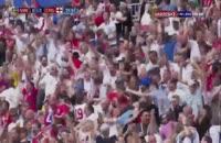 صحنه گل اول انگلیس به سوئد  در جام جهانی 2018