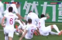 گل اول انگلیس به کرواسی در جام جهانی 2018 (تریپیر)