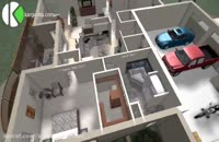 طراحی یک خانه ی ویلایی لوکس
