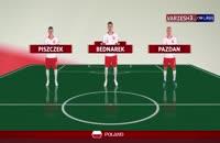 شماتیک ترکیب تیم های لهستان - کلمبیا  در جام جهانی 2018