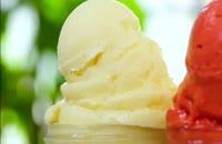 آموزش دسر بستنی میوه ای
