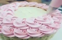 ایده تزینات کیک گل