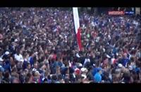 تجمع مردم فرانسه در کنار برج ایفل برای تماشای فینال جام جهانی 2018