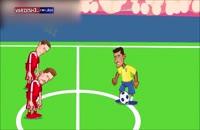 صحنه بازی صربستان-برزیل در جام جهانی 2018 بهروایتکارتون