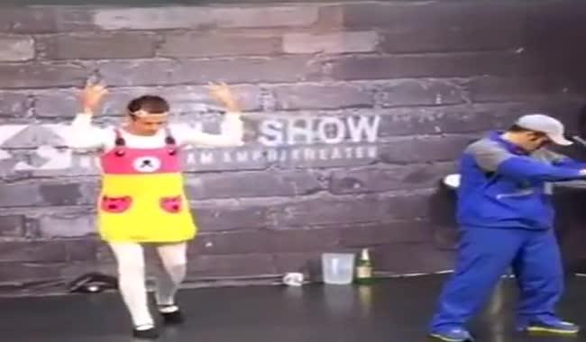 ویالون اکبر اقبالی رقص باحال حسن فتحی