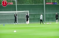 تمرینات تیم ملی انگلیس پیش از بازی با کلمبیا