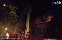 آتش سوزی خیابان امیرکبیر تهران 3 آتش نشان را راهی بیمارستان کرد!