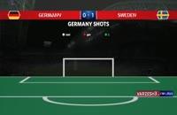 آمار نیمه اول دیدار آلمان - سوئد