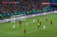 شوت استثنایی ناچو؛ گل سوم اسپانیا به پرتغال