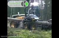 ماشین مخصوص برش و تکه تکه کردن درخت