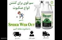 بهترین سم برای دفع سریع انواع عنکبوت، Spider web out