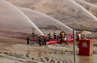 """بیست و پنجمین (25) روز آتش سوزی چاه نفت """"رگ سفید"""" خوزستان"""