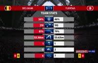 آمار نیمه اول بازی بلژیک - تونس در جام جهانی 2018