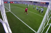 صحنه گل اول فرانسه به اروگوئه در جام جهانی 2018