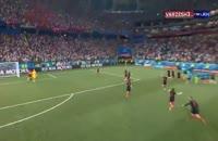 شادی و غم هوادارن و بازیکنان پس از بازی دراماتیک کرواسی - دانمارک