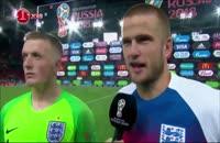 مصاحبه پیک فورد و دایر (بازیکنان انگلیس) پس از دیدار با کلمبیا
