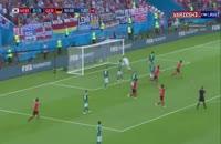 صحنه گل اول کره جنوبی به آلمان در جام جهانی 2018