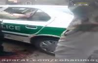 حمله به مامور نیروی انتظامی با قمه.