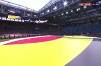 ورود و سرود دو تیم بلژیک - تونس