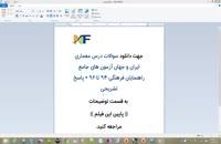 سوالات درس معماری ایران و جهان آزمون جامع راهنمایان فرهنگی  + پاسخ تشریحی