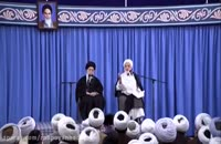 حضور حجت الاسلام قرائتی در جلسه تدریس رهبر انقلاب