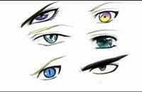 آموزش نقاشی چشم های پسر به سبک انیمه-قسمت 1