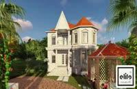 انیمیشن ویلای تیپ 5 دهکده ساحلی الیت در منطقه آزاد انزلی-زیباکنار