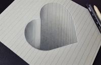 آموزش نقاشی 3 بعدی شکل قلب برای کودکان و نوجوانان