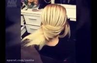 آموزش ساده شینیون موی کوتاه   آموزش آرایش شینیون