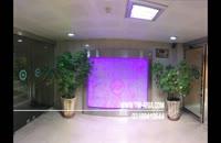 اجرا و طراحی آبنما در دفتر بیمه، آبنمای حبابی شیشه ای، آبنمای شیشه ای مدرن