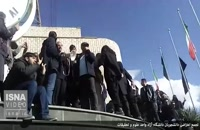 تجمع دانشجویان دانشگاه آزاد علوم و تحقیقات اعتراض به واژگونی اتوبوس