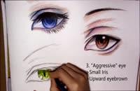آموزش نقاشی چشم برای انیمه پسر در 3 شکل