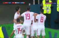 گل ایران به مراکش در جام جهانی روسیه